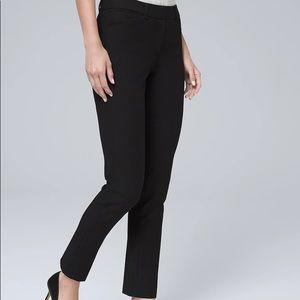 WHBM STRETCH SLIM ANKLE PANTS black